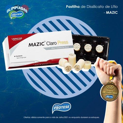 Pastilha Mazic Claro Press HT-A2 c/ 5 unidades - DPF