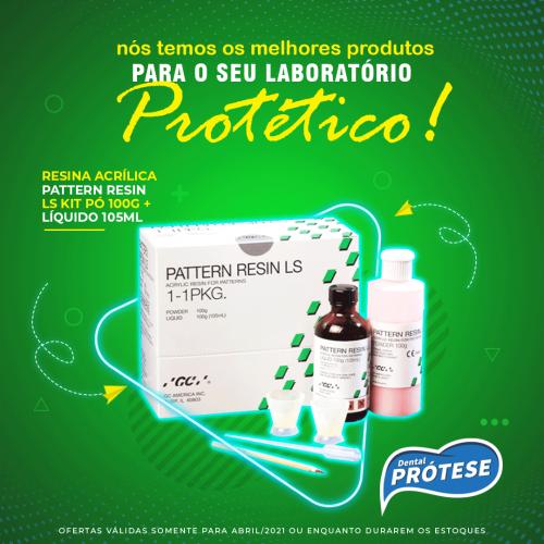 Resina Acrílica Pattern Resin LS Kit Pó 100g + Líquido 105ml